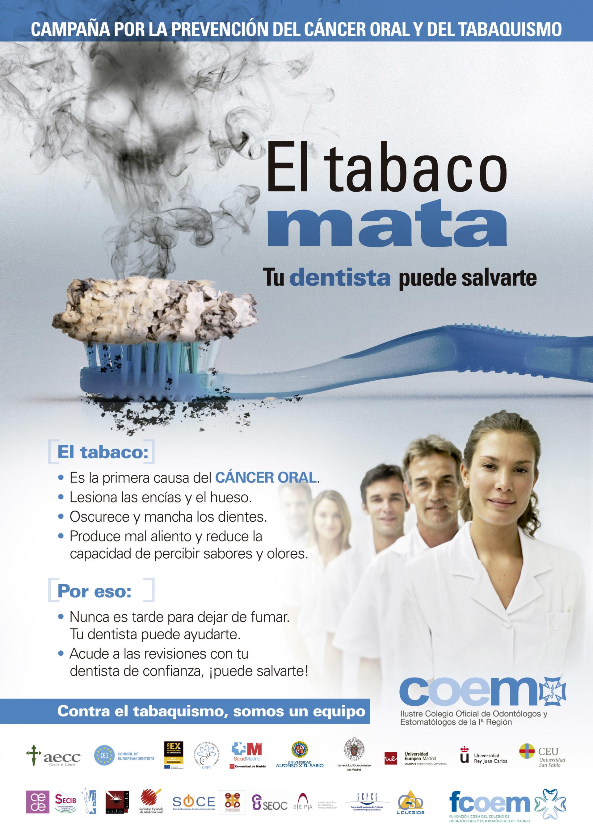 Campaña por la prevención del Cáncer oral y del Tabaquismo