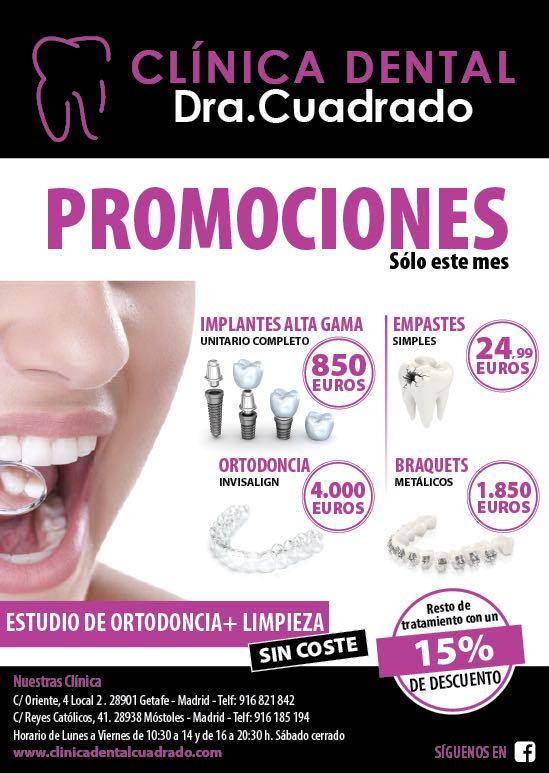 Las mejores promociones en servicios dentales, sólo este mes de septiembre en la Clínica Dental Cuadrado