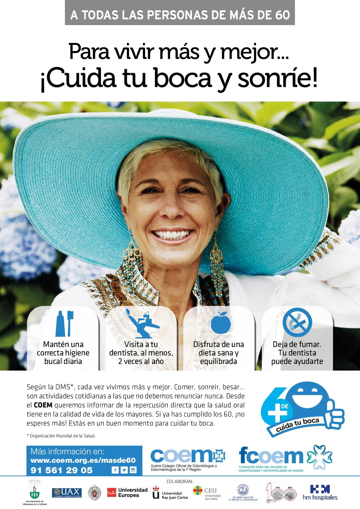 """Descubre la nueva campaña del COEM: """"+ de 60. Cuida tu boca"""""""