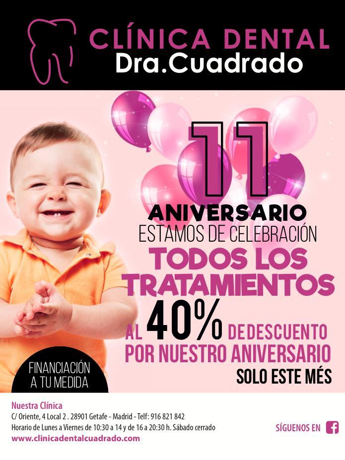 ¡Estamos de celebración: todos nuestros tratamientos al 40% de descuento!